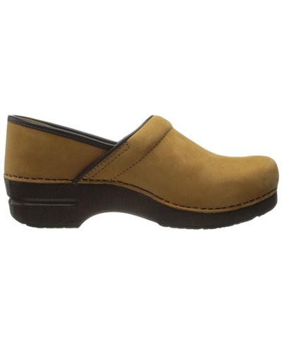 Damen Professional Leather Leder Clogs Wheat Nubuck