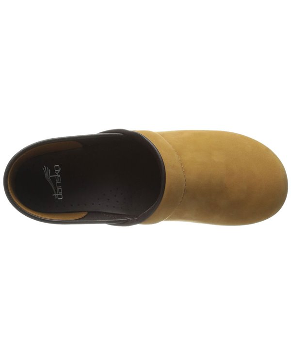 Women's Professional Leather Clogs in Wheat Wheat Nubuck