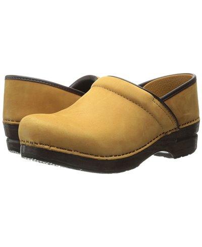 Damen Professional Leather Leder Clogs Wheat Nubuck