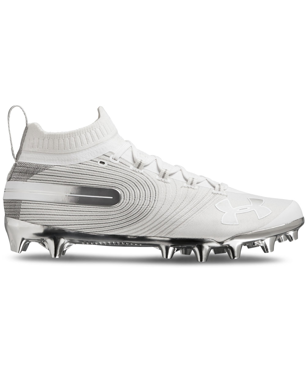 9df8ee46c40 Under Armour Men s Spotlight MC American Football Cleats White