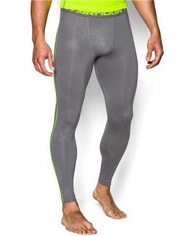 HeatGear Armour Printed Leggings Uomo Graphite