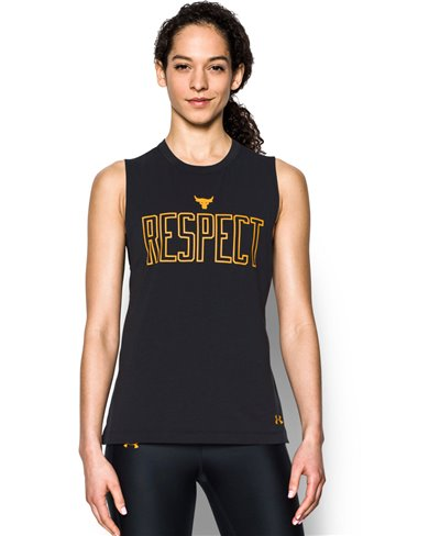 Project Rock Muscle Camiseta sin Mangas para Mujer Black