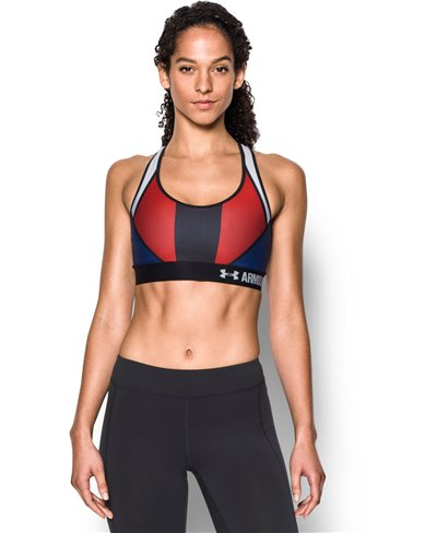 Women's Sports Bra Armour Mid - USA American Blue