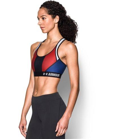 Damen Sport-BH Armour Mid - USA American Blue
