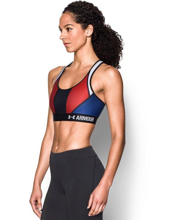 Women's Sports Bra Armour Mid - USA American Blue
