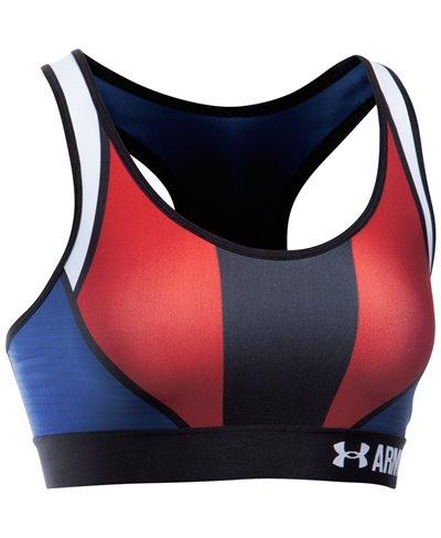 Armour Mid - USA Sujetador para Mujer American Blue
