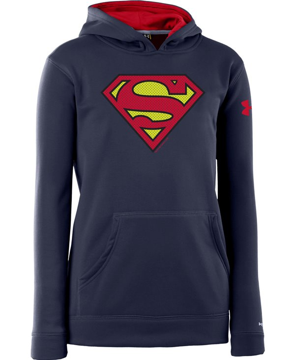 Kinder Hoodie Armour Fleece Storm Superman