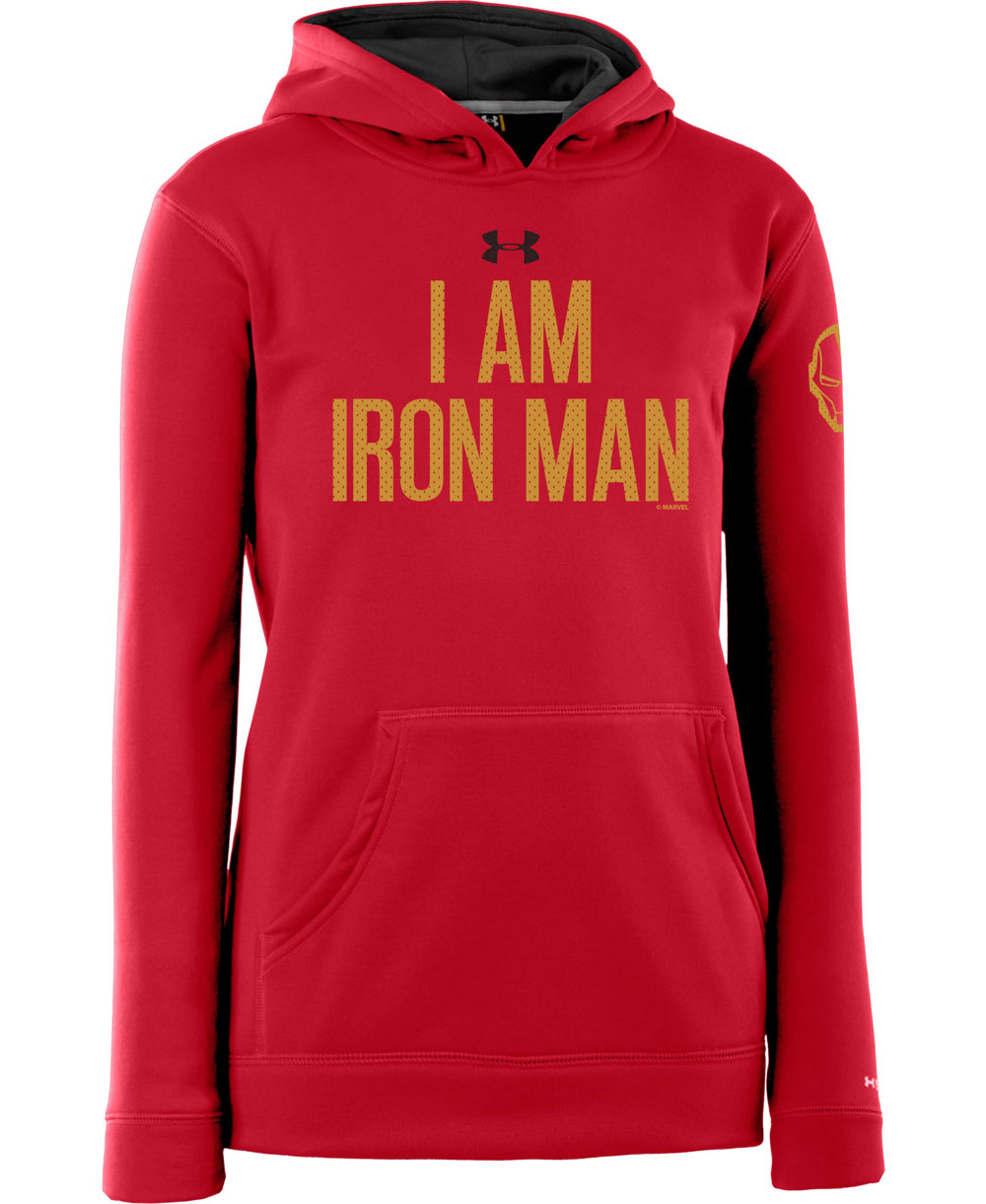 Armour Fleece Storm Felpa con Cappuccio Ragazzo Iron Man