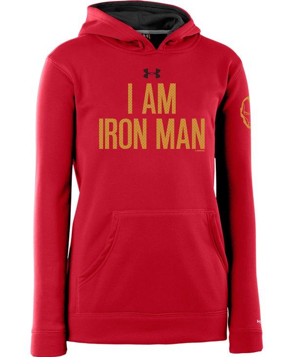 Kinder Hoodie Armour Fleece Storm Iron Man