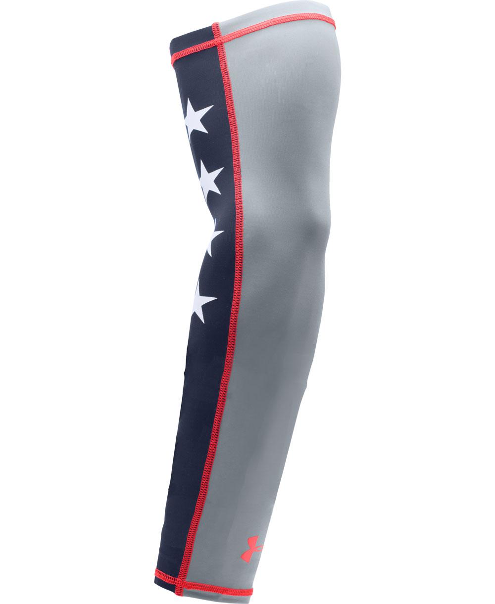 Graphic HeatGear Men's Baseball Arm Sleeve Steel