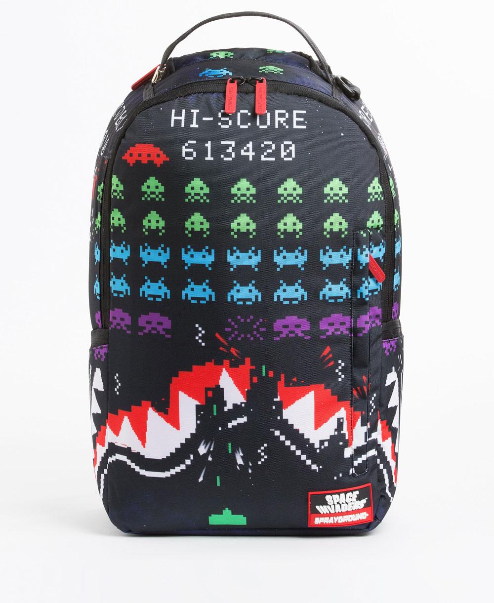 cebc5147b Sprayground Shark Space Invaders 40th Anniversary Backpack