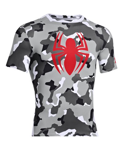 Alter Ego Men's Short Sleeve Compression Shirt Spider-Man