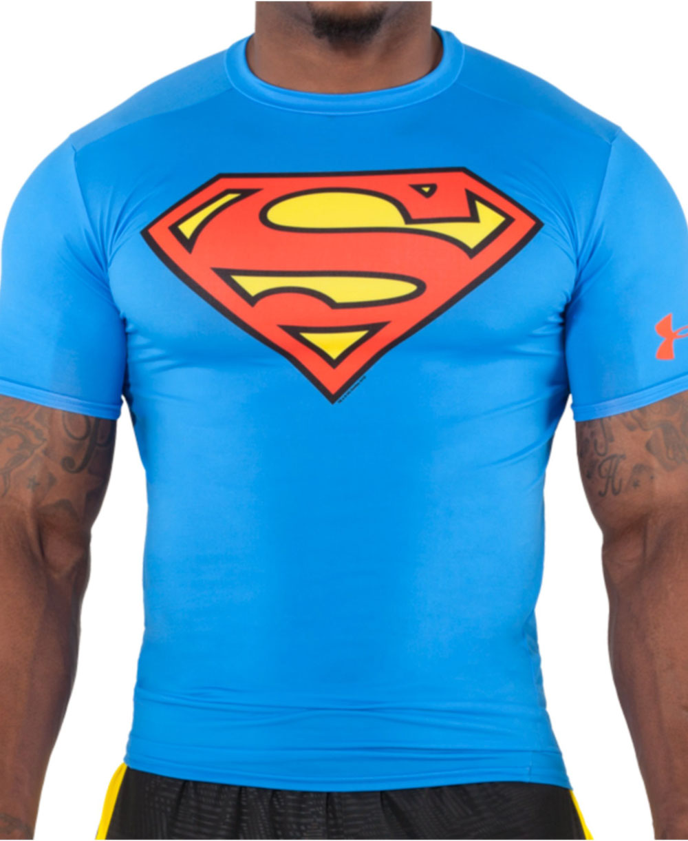 cccda3aa Alter Ego Men's Short Sleeve Compression Shirt Superman