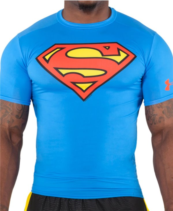 Alter Ego Men's Short Sleeve Compression Shirt Superman