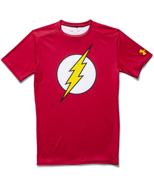 Alter Ego Camiseta de Compresión Manga Corta para Hombre Flash
