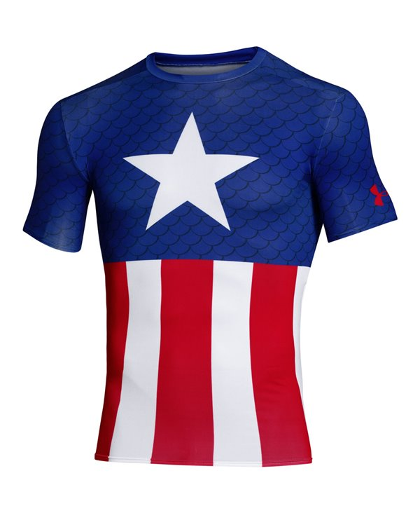 9fa3d360 Under Armour Alter Ego Men's Short Sleeve Compression Shirt Captain...
