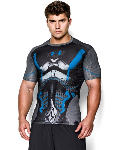 Alter Ego Herren Kurzarm Kompressions-Shirt  Future Warrior