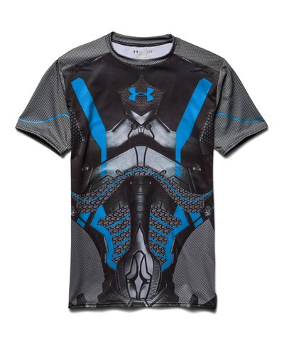 Alter Ego Herren Kurzarm Kompressions-Shirt  Future Warrior