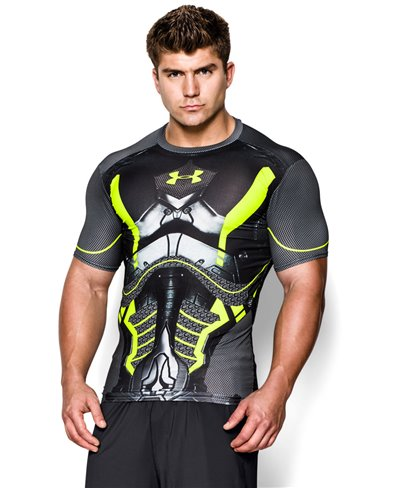 Alter Ego Herren Kurzarm Kompressions-Shirt  Future Warrior Black 003