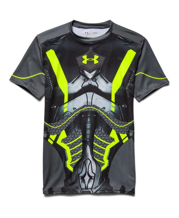 Alter Ego Herren Kurzarm Kompressions-Shirt  Future Warrior Black 003