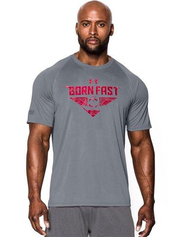Herren Kurzarm T-Shirt Born Fast Steel