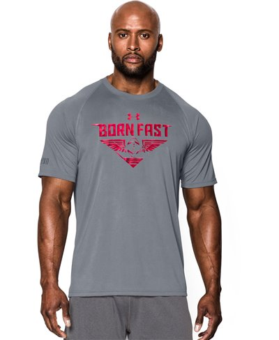 Men's Short Sleeve T-Shirt Born Fast Steel