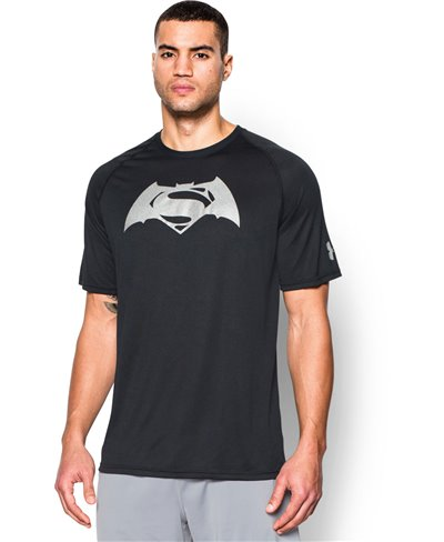Alter Ego Batman Vs Superman Camiseta Manga Corta para Hombre Black