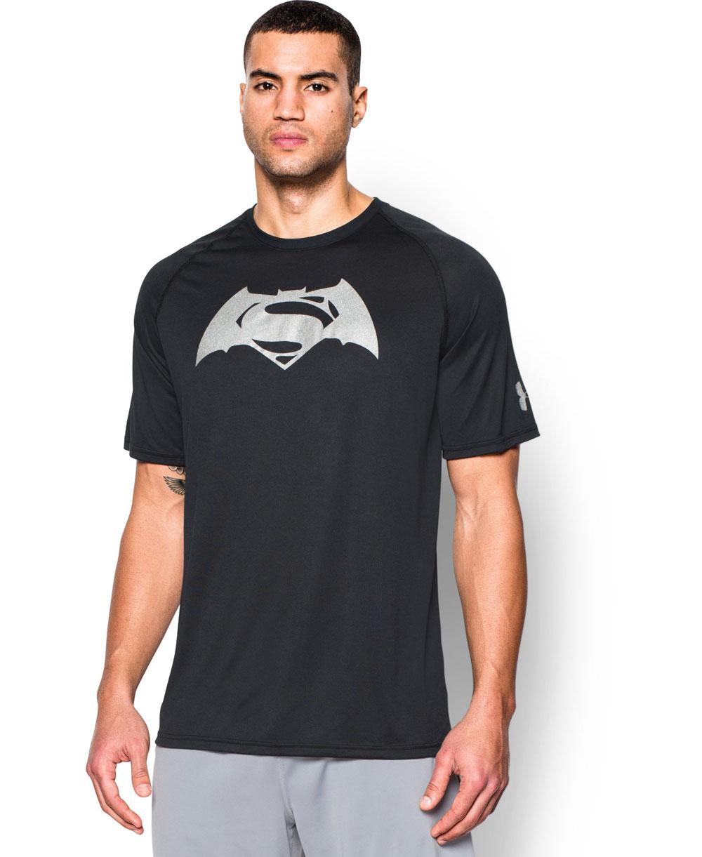 Alter Ego Batman Vs Superman Camiseta Manga Corta para Hombre Black