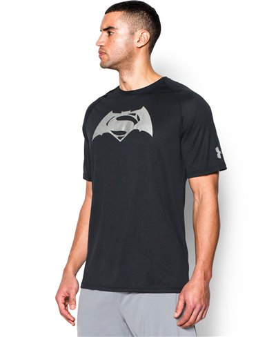 Men's Short Sleeve T-Shirt Alter Ego Batman Vs Superman Black