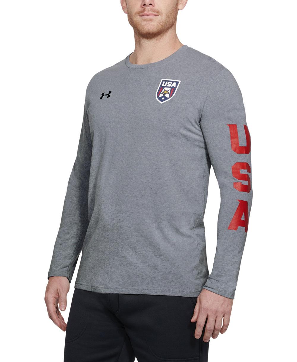 3e996c597ac Under Armour USA Patriot Camiseta Manga Larga para Hombre Steel Lig...