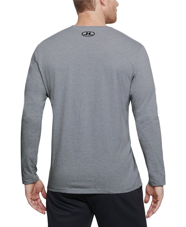 USA Patriot T-Shirt à Manches Longues Homme Steel Light Heather