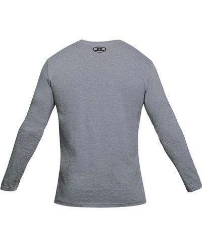 Men's Long Sleeve T-Shirt USA Patriot Steel Light Heather
