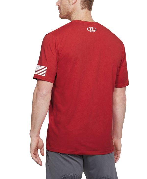 Stars & Stripes Verbiage T-Shirt Manica Corta Uomo Red