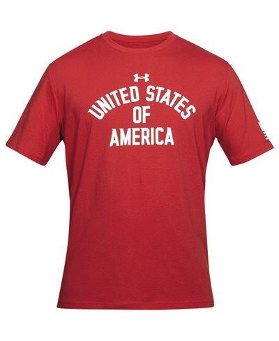 Stars & Stripes Verbiage Camiseta Manga Corta para Hombre Red