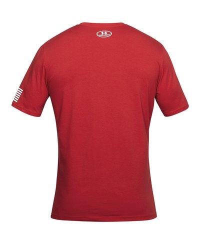 Men's Short Sleeve T-Shirt Stars & Stripes Verbiage Red
