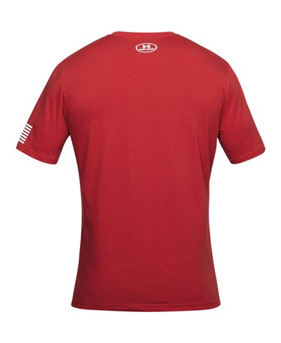 Stars & Stripes Verbiage T-Shirt à Manches Courtes Homme Red