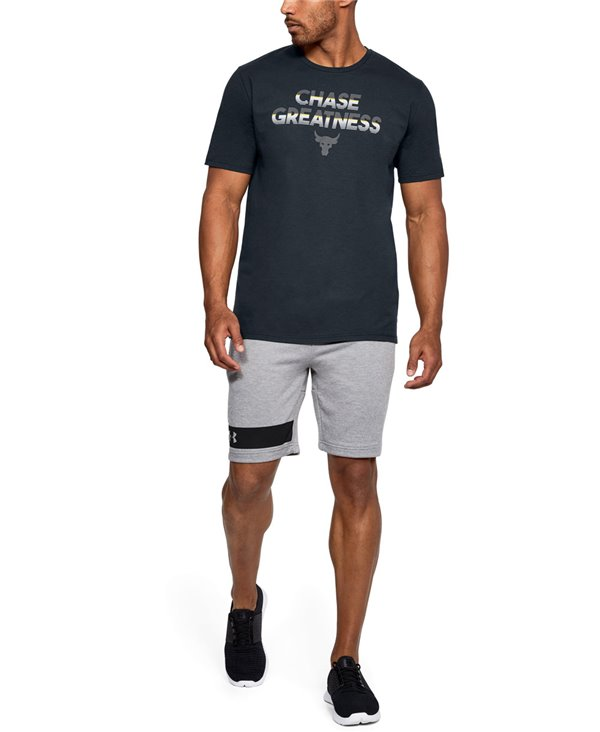 Men's Short Sleeve T-Shirt Project Rock Chase Greatness Black