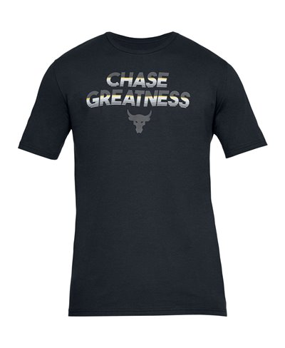 Project Rock Chase Greatness Camiseta Manga Corta para Hombre Black
