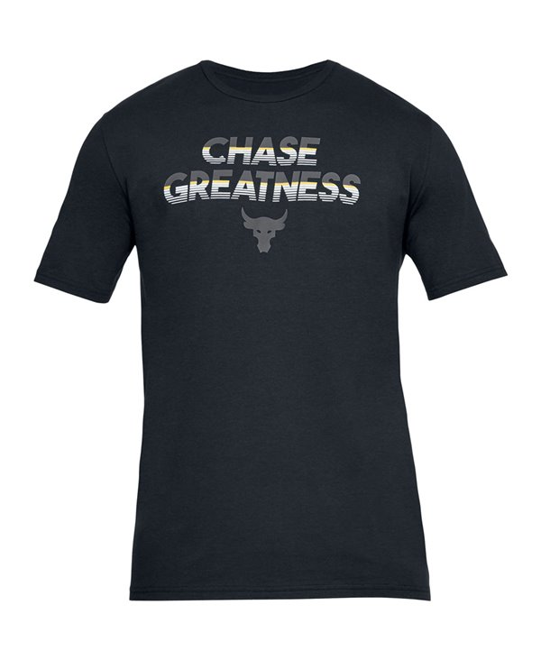 Project Rock Chase Greatness T-Shirt à Manches Courtes Homme Black