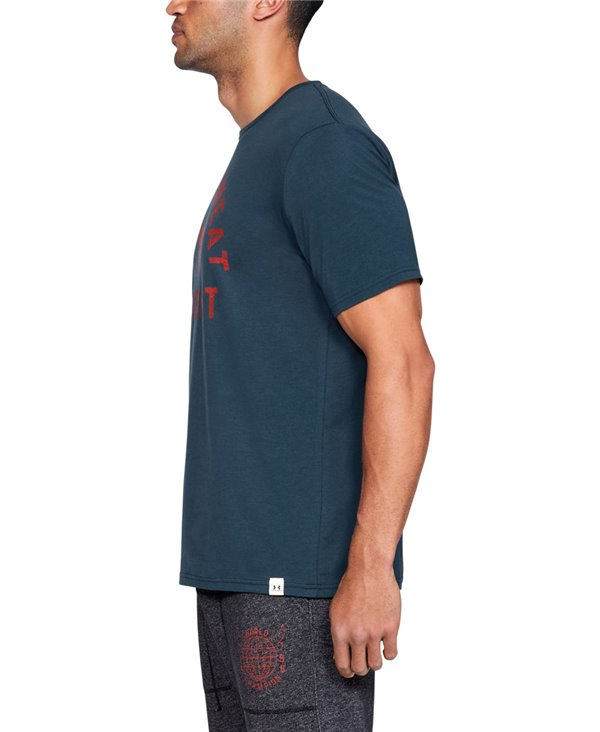 728ced086791d0 Under Armour Men s Short Sleeve T-Shirt Project Rock Blood Sweat Re...