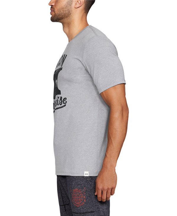 Herren Kurzarm T-Shirt Project Rock Iron Paradise Steel Light Heather