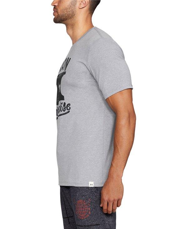 Project Rock Iron Paradise Camiseta Manga Corta para Hombre Steel Light Heather