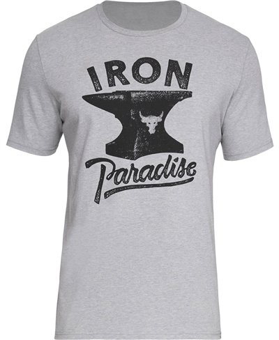 Project Rock Iron Paradise T-Shirt Manica Corta Uomo Steel Light Heather
