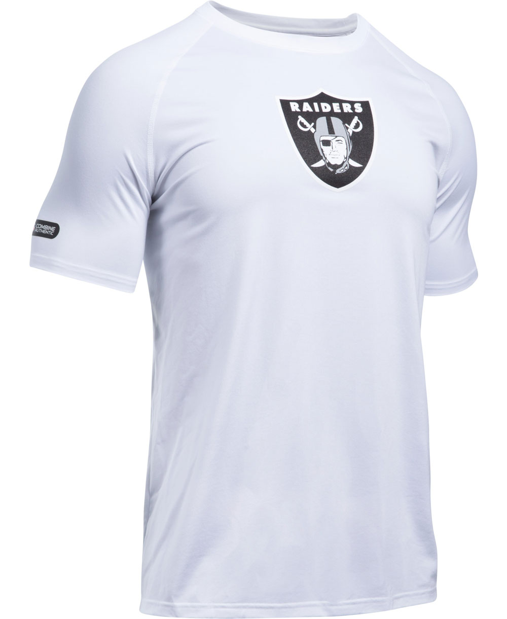 NFL Combine Authentic UA Tech T-Shirt Manica Corta Uomo Oakland Raiders