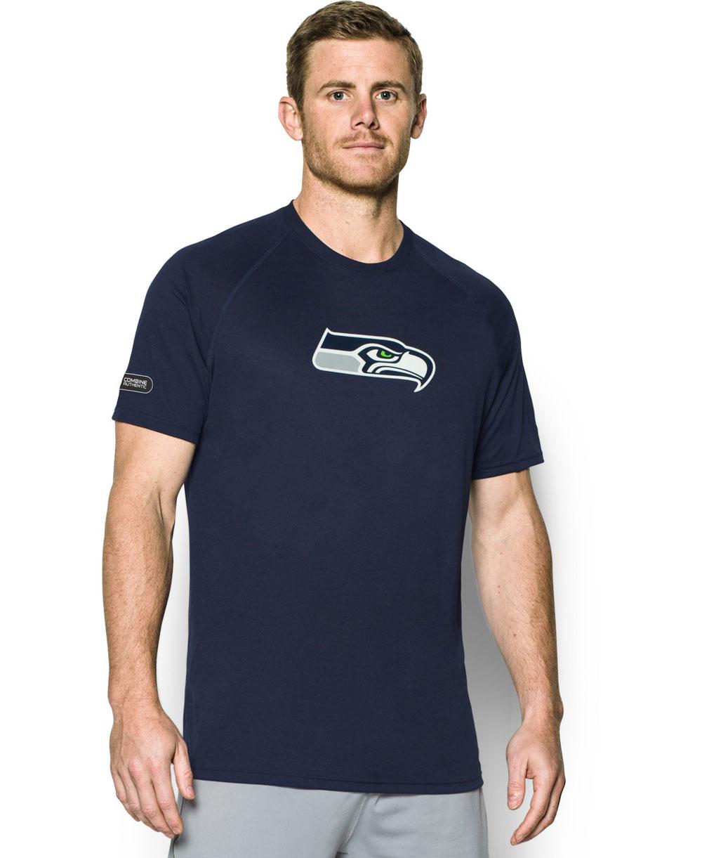 NFL Combine Authentic UA Tech T-Shirt à Manches Courtes Homme Seattle Seahawks