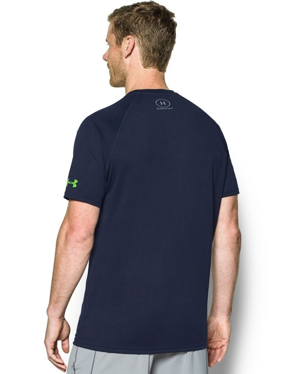 Men's Short Sleeve T-Shirt NFL Combine Authentic UA Tech Seattle Seahawks