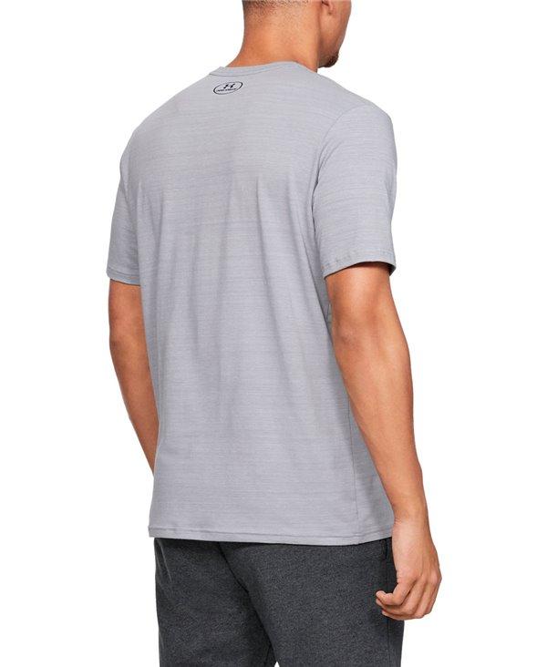 Men's Short Sleeve T-Shirt Project Rock Progress Through Pain Steel Light Heather