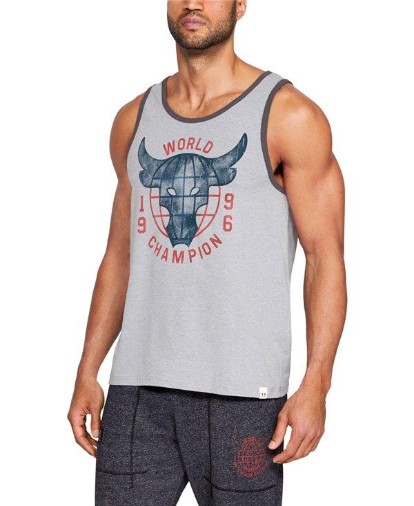 Project Rock 96 World Champion Camiseta sin Mangas para Hombre Steel Light Heather