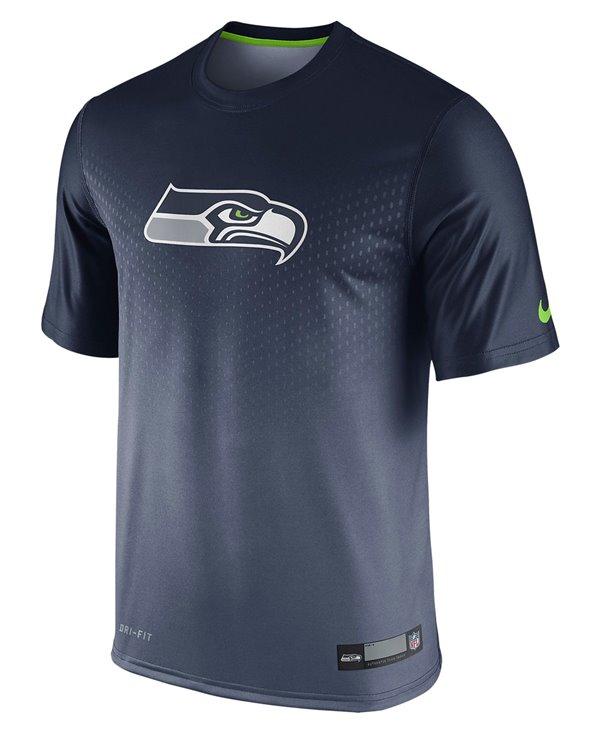 Legend Sideline T-Shirt à Manches Courtes Homme NFL Seattle Seahawks