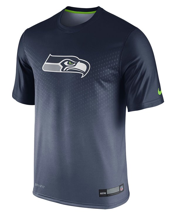 Men's Short Sleeve T-Shirt Legend Sideline NFL Seattle Seahawks